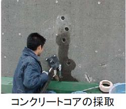 コンクリートコアの採取